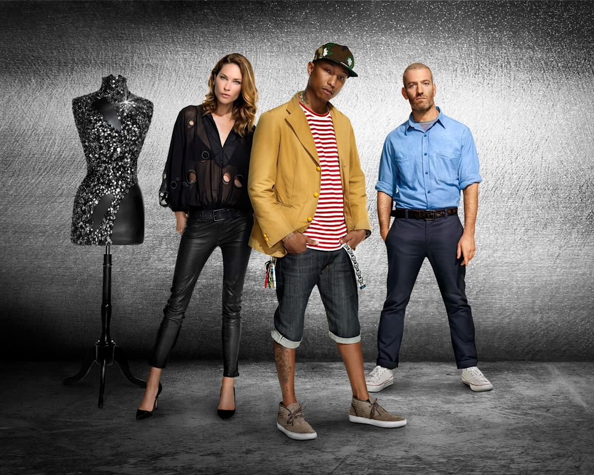 "Erin Wasson, Pharrell Williams, and Mel Ottenberg in ""Styled to Rock"" Season 1."