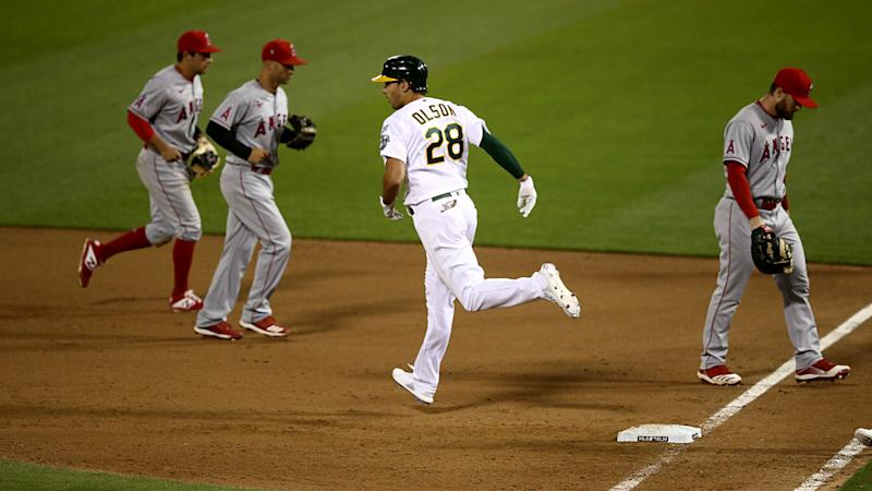 Angels, A's make MLB history by being first to play under 2020 rule for extra innings
