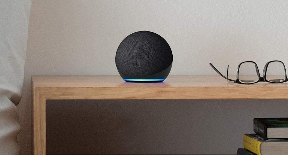 Start your smart-home setup for 50 percent off. The Echo Dot 4 smart speaker is half off for Prime Day! (Photo: Amazon)