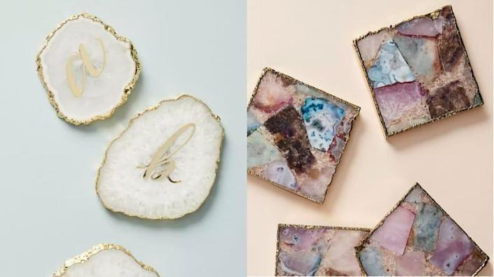 Best 30th birthday gift ideas: Agate coasters