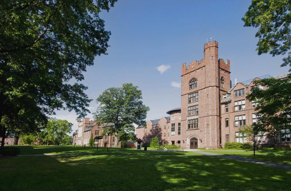 "Mount Holyoke College, an all-women's school in Massachusetts, is discouraging the use of the word ""women"" to address its students in class. (Photo: Getty Images)"