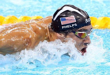 FILE PHOTO: Michael Phelps of USA competes during the 2016 Rio Olympics in Rio de Janeiro, Brazil, August 13, 2016. REUTERS/Marcos Brindicci/File Photo