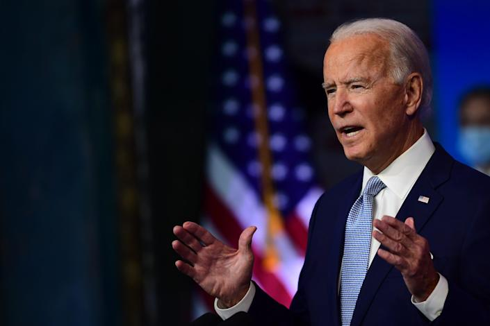 President-elect Joe Biden on Nov. 24, 2020 in Wilmington, Delaware.