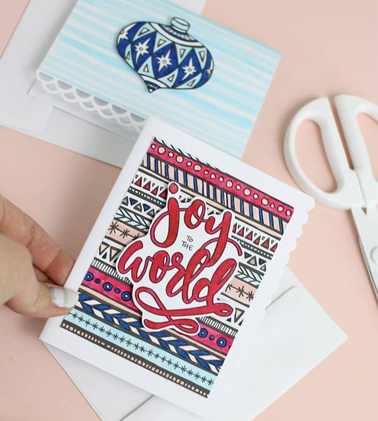 """<p>Print free holiday-inspired coloring pages, then attach them to greeting cards using foam squares to make the beautiful design really pop. </p><p><em>Get the tutorial at <a href=""""https://persialou.com/coloring-page-christmas-cards-crafts-unleashed/"""" rel=""""nofollow noopener"""" target=""""_blank"""" data-ylk=""""slk:Persia Lou"""" class=""""link rapid-noclick-resp"""">Persia Lou</a>.</em> </p><p><a class=""""link rapid-noclick-resp"""" href=""""https://www.amazon.com/EK-Adhesive-Squares-125-Inch-Package/dp/B00C90WPEI/?tag=syn-yahoo-20&ascsubtag=%5Bartid%7C10072.g.34351112%5Bsrc%7Cyahoo-us"""" rel=""""nofollow noopener"""" target=""""_blank"""" data-ylk=""""slk:SHOP FOAM SQUARES"""">SHOP FOAM SQUARES</a></p>"""