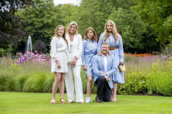 Photo featured on the cover was one of several released by Dutch royal family (Getty)
