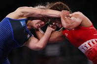 <p>CHIBA, JAPAN - AUGUST 03: Final on day eleven of the Tokyo 2020 Olympic Games at Makuhari Messe Hall on August 03, 2021 in Chiba, Japan. (Photo by Tom Pennington/Getty Images)</p>