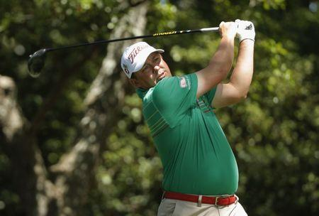 Jason Dufner of the U.S. hits off the second tee in third round play during the 2017 Masters golf tournament at Augusta National Golf Club in Augusta, Georgia, U.S., April 8, 2017. REUTERS/Jonathan Ernst