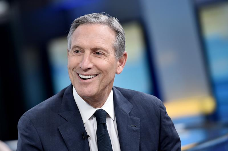 "Former Starbucks CEO Howard Schultz smiles during an appearance on ""Fox & Friends"" in April. (Photo: Steven Ferdman/Getty Images)"