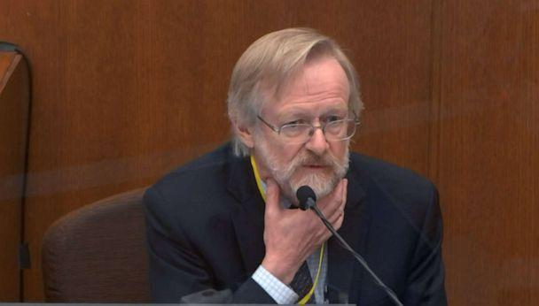 PHOTO: Pulmonology expert Dr. Martin Tobin testifies during the trial of former police officer Derek Chauvin in the death of George Floyd, in Minneapolis, April 15, 2021. (Court TV via ABC News)