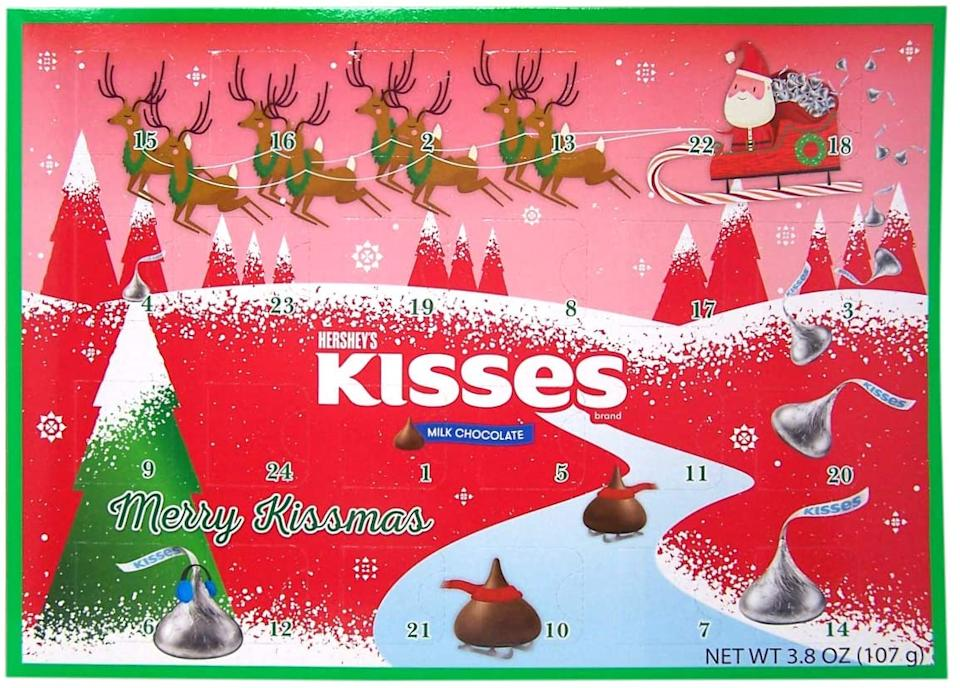 Hershey Milk Chocolate Kisses Candy Filled 2020 Christmas Advent Calendar