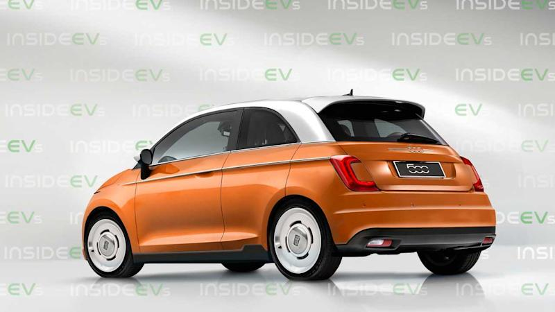 Fiat 500 electric (2020) als Rendering