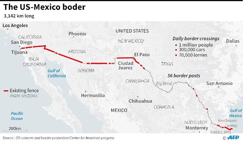 Mexico And US Border Crossings Map The Washington Post Gene - Canada us border crossings map