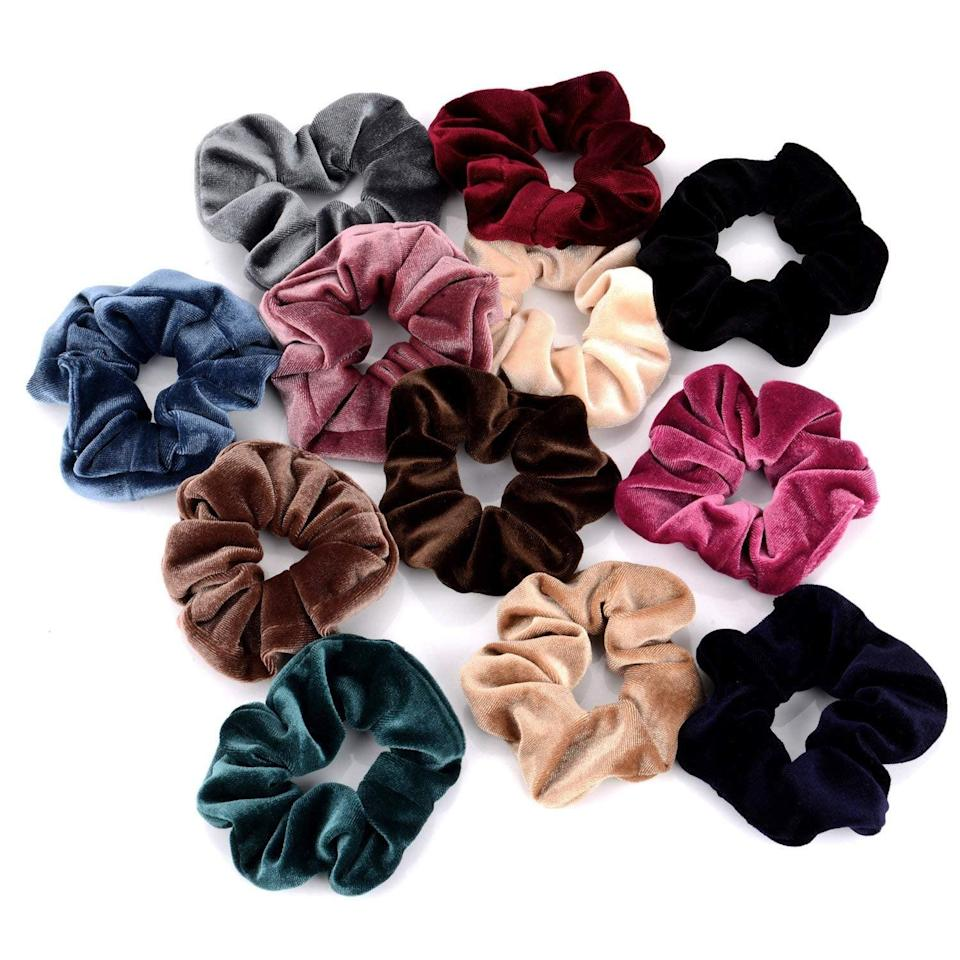 <p>These <span> Velvet Scrunchy Bobbles </span> ($9) are seriously cute (you'll probably want to snag a few from their stocking for yourself!).</p>