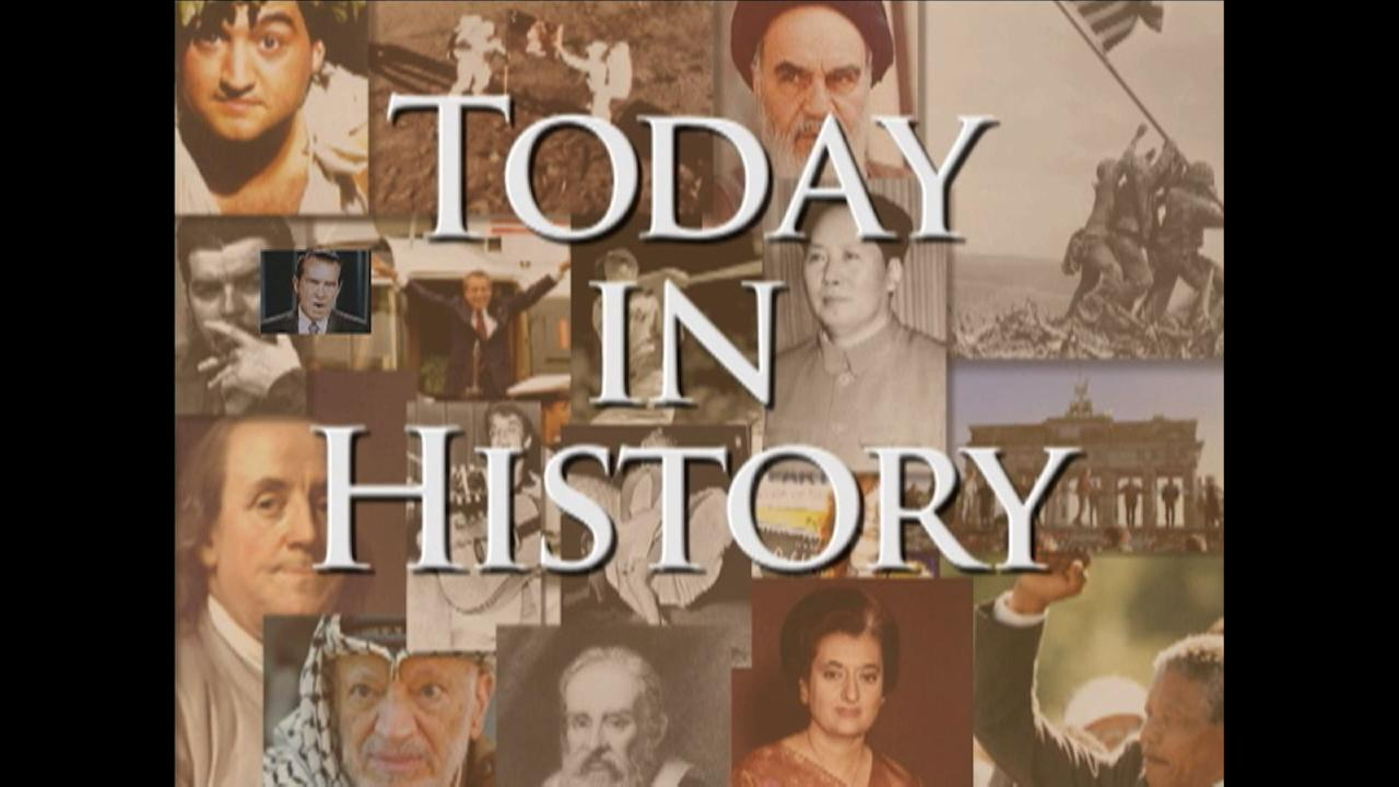 Highlights of this day in history:  President Richard Nixon announces his breakthrough trip to China; Fashion designer Gianni Versace slain; Aerospace giant Boeing founded; Dutch painter Rembrandt born.  (July 15)