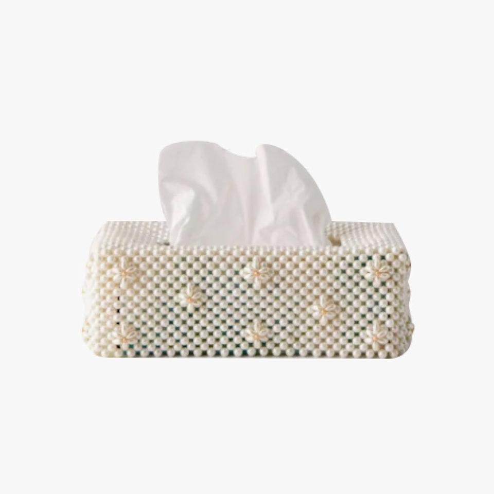 """With so much time spent at home, even your tissue boxes deserve to look cute. This beaded option will conceal any potential eyesores. $39, URBAN OUTFITTERS. <a href=""""https://www.urbanoutfitters.com/shop/annabelle-beaded-tissue-box-cover?category=home-decor-sale&color=011&type=REGULAR&quantity=1"""" rel=""""nofollow noopener"""" target=""""_blank"""" data-ylk=""""slk:Get it now!"""" class=""""link rapid-noclick-resp"""">Get it now!</a>"""