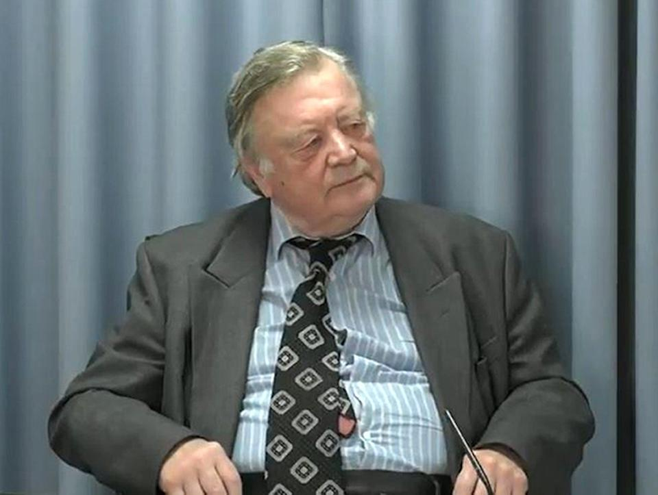 Lord Ken Clarke has been giving evidence at the Infected Blood Inquiry this week (PA)