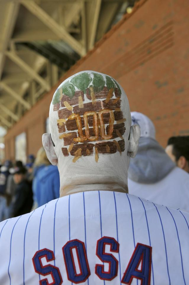 CHICAGO, IL - APRIL 23: Russell Duffer waits to get into the ballpark before the game between the Chicago Cubs and the Arizona Diamondbacks on April 23, 2014 at Wrigley Field in Chicago, Illinois. Today marks the 100th anniversary of the first game ever played in the historic venue. (Photo by David Banks/Getty Images)