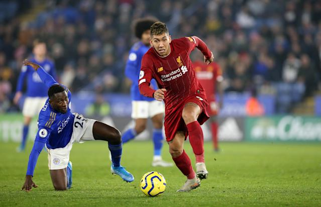 Roberto Firmino has been in fine form for Liverpool of late. (Photo by Plumb Images/Leicester City via Getty Images)