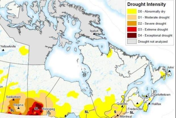 Drought Monitor Report/Agriculture and Agri-Food Canada