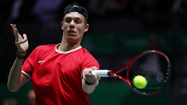 Canada's Denis Shapovalov was no match for Spain's Rafael Nadal, losing in the Davis Cup final. (REUTERS/Sergio Perez)