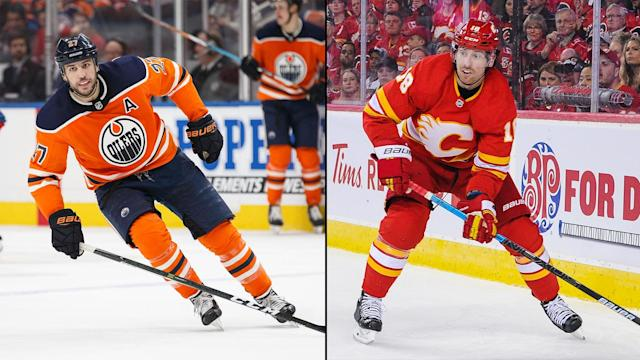 The Oilers and Flames are hoping a change of venue for both of these players will produce better results than last season.