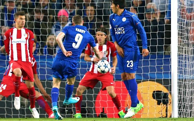 <span>Vardy grabbed Leicester's equaliser on the night</span>