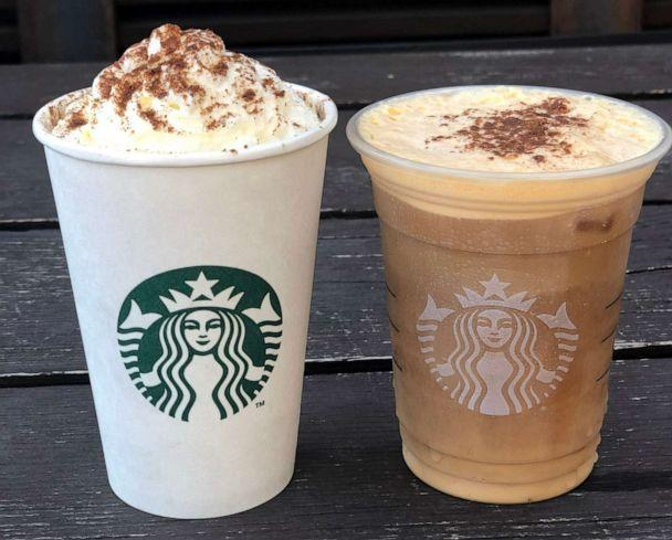 PHOTO: Starbucks' Pumpkin Cream Cold Brew is the newest thing on the coffee shop's menu. (Angeline Bernabe/ABC)