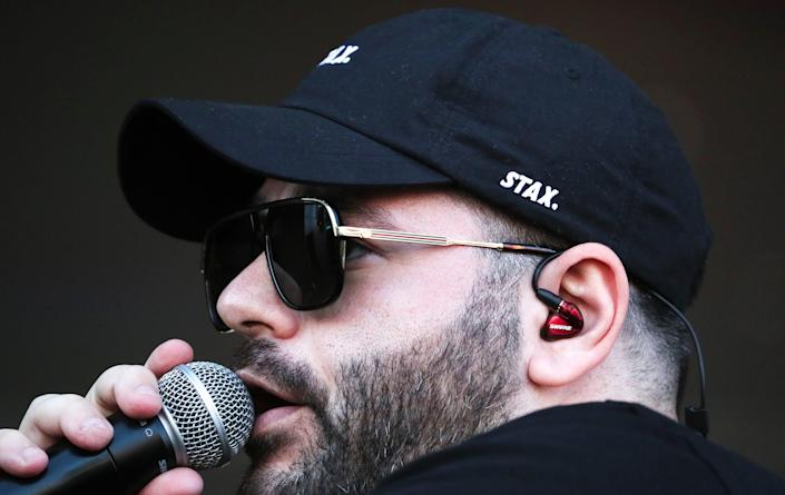 Greek-Australian rapper Masked Wolf performs at the Generac Power Stage at Summerfest on Sept. 16, 2021.