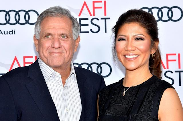 Leslie Moonves and Julie Chen attend the premiere of <em>Patriots Day</em> at AFI Fest 2016, presented by Audi at the Chinese Theatre on Nov. 17, 2016, in Hollywood, Calif. (Photo: Tara Ziemba/Getty Images)