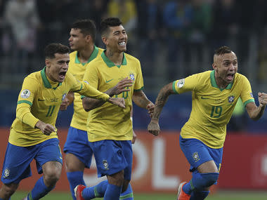 Copa America 2019: Gabriel Jesus converts winning spot-kick as Brazil exorcise Paraguay penalties demons to reach semis