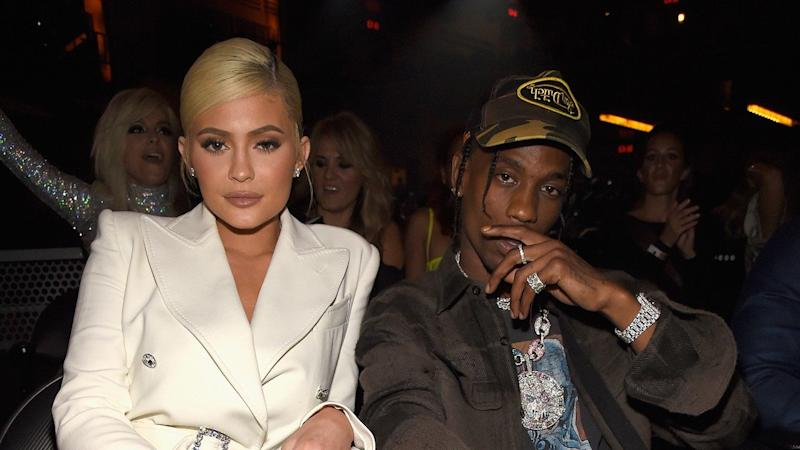 826da0546cf0 Kylie Jenner Strikes a Sexy Pose to Support Travis Scott's NYC Tour Stop