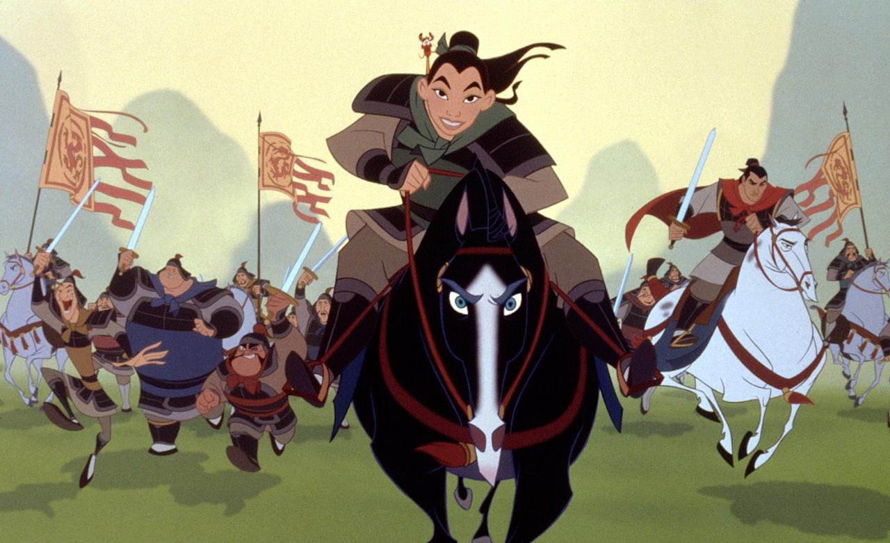 "<ul> <li> <strong>Originally released:</strong> 1998</li> <li> <strong>Current status:</strong> Disney has unveiled character posters and <a href=""https://www.popsugar.com/entertainment/Mulan-Reboot-Trailer-46349470"" class=""ga-track"" data-ga-category=""Related"" data-ga-label=""https://www.popsugar.com/entertainment/Mulan-Reboot-Trailer-46349470"" data-ga-action=""In-Line Links"">an official trailer</a> for the action-packed remake that's set to hit theaters on March 27. Elizabeth Martin and Lauren Hynek wrote the script while Chris Bender and J.C. Spink produced the project and Niki Caro directed it.</li> <li> <strong>Cast:</strong> Chinese actress Liu Yifei, who is also known as Crystal Liu, <a href=""https://www.popsugar.com/entertainment/Mulan-Live-Action-Movie-Cast-44311431"" class=""ga-track"" data-ga-category=""Related"" data-ga-label=""http://www.popsugar.com/entertainment/Mulan-Live-Action-Movie-Cast-44311431"" data-ga-action=""In-Line Links"">will play the title role of Mulan</a> alongside <strong>Rogue One</strong>'s Donnie Yen as Commander Tung, Jet Li as the emperor of China, and Gong Li as a witch who acts as the main villain. </li> </ul>"