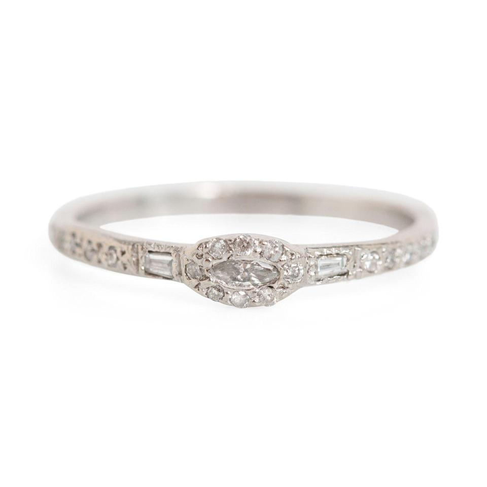 """And there are some smaller, more subtle options out there as well for those who don't care about diamond size. $1980, Catbird. <a href=""""https://www.catbirdnyc.com/anna-karenina-marquise-diamond-ring.html"""" rel=""""nofollow noopener"""" target=""""_blank"""" data-ylk=""""slk:Get it now!"""" class=""""link rapid-noclick-resp"""">Get it now!</a>"""