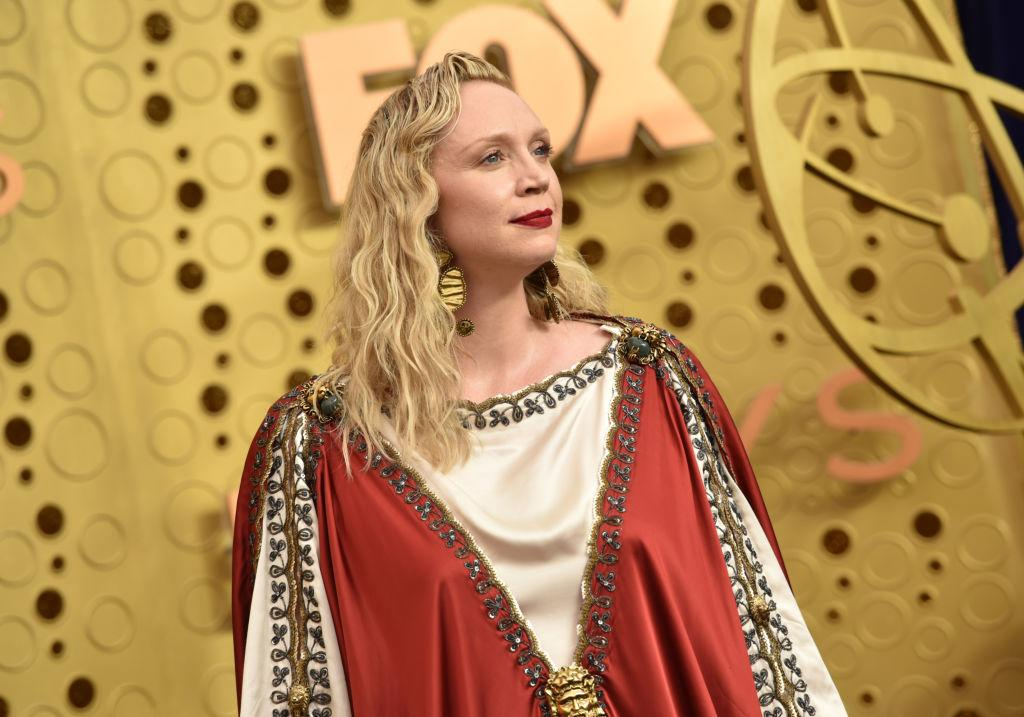 Gwendoline Christie stole the conversation before the awards ceremony even started [Photo: Getty]