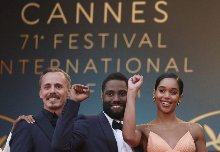 John David Washington, hijo de Denzel Washington, en Cannes