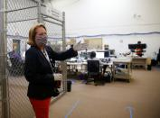Thurston County Auditor Hall at the Thurston County Ballot Processing Center in Tumwater