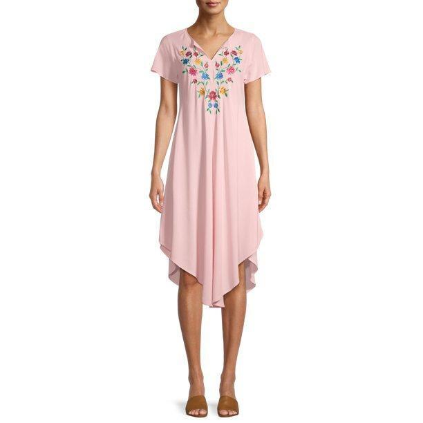 The Pioneer Woman Short Sleeve Embroidered Umbrella Dress