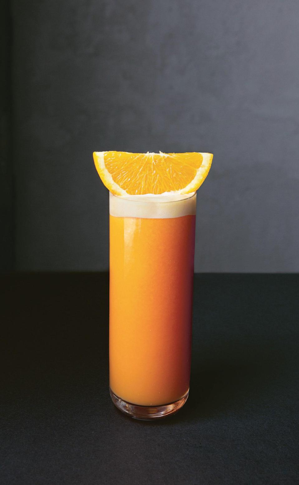 """This simple two-ingredient cocktail is the ideal brunch or before-dinner drink. Campari gives it a delicate bitterness, while fresh orange juice creates a beautiful froth. This month, we also built you an interactive recipe finder in case you're looking for more <a href=""""https://www.epicurious.com/recipes-menus/cocktail-recipe-finder-article?mbid=synd_yahoo_rss"""" rel=""""nofollow noopener"""" target=""""_blank"""" data-ylk=""""slk:cocktail ideas"""" class=""""link rapid-noclick-resp"""">cocktail ideas</a>. <a href=""""https://www.epicurious.com/recipes/food/views/garibaldi-campari-cocktail?mbid=synd_yahoo_rss"""" rel=""""nofollow noopener"""" target=""""_blank"""" data-ylk=""""slk:See recipe."""" class=""""link rapid-noclick-resp"""">See recipe.</a>"""