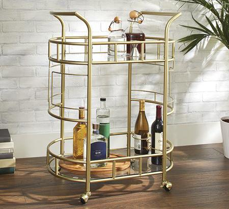 Better Homes & Gardens Fitzgerald 2-Tier Bar Cart. (Photo: Walmart)