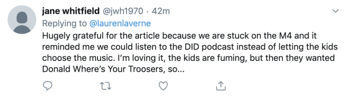 Tweeter Jane Whitfield comments on Lauren Laverne post
