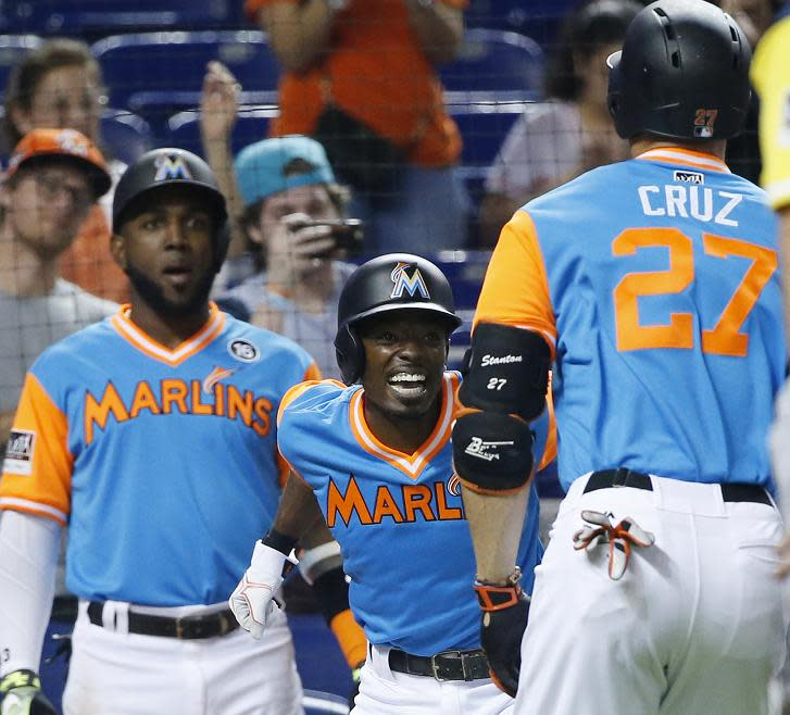 Giancarlo Stanton Hits 50th Home Run of Season vs. Padres