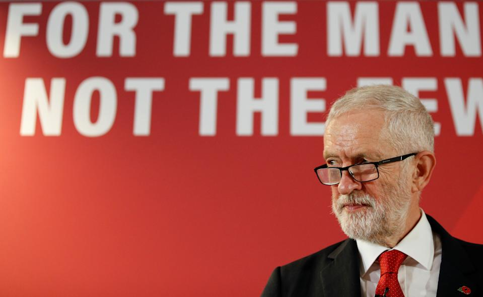 Britain's opposition Labour Party leader Jeremy Corbyn attends a general election campaign event at the University of Wolverhampton in Telford, Britain, November 6, 2019. REUTERS/Phil Noble