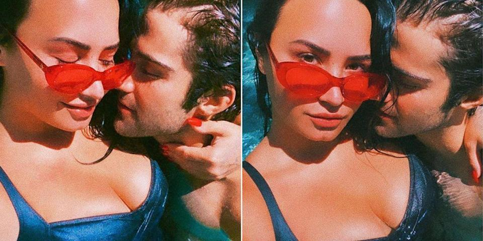 Demi Lovato Poses With Her New Boyfriend Max Ehrich Wearing a Sexy Swimsuit