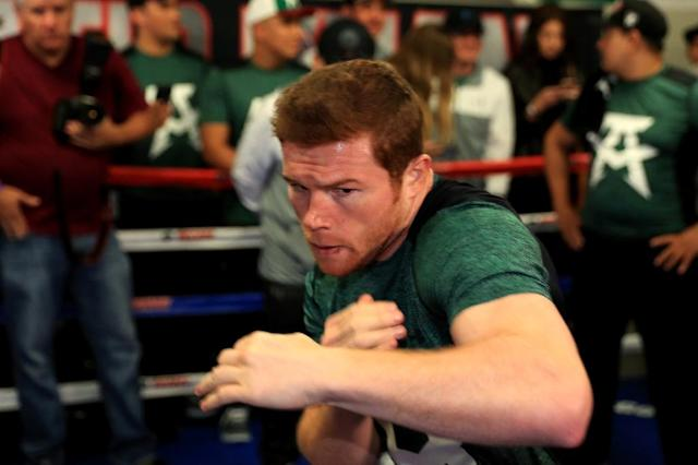 "Golden Boy Promotions, who handle Mexican middleweight Saul ""Canelo"" Alvarez, reiterated he hadn't intentionally taken a banned drug after he was temporarily suspended by Nevada boxing authorities over positive drug tests (AFP Photo/Sean M. Haffey)"