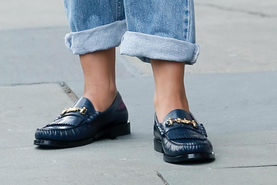 A closer look at Rodriguez's loafers. - Credit: Steve Sands/New York Newswire/MEGA