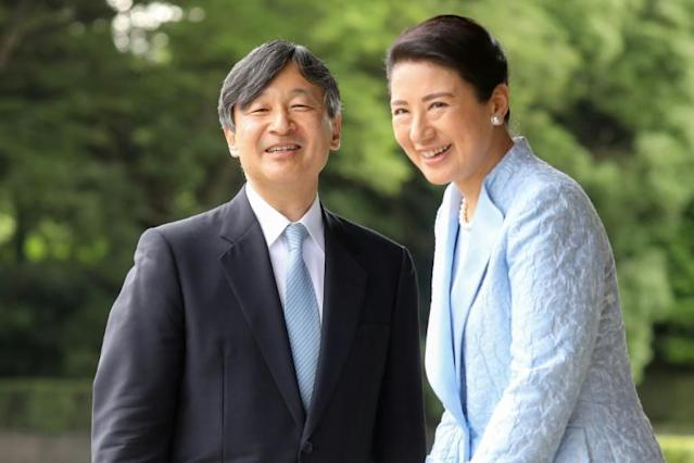 Emperor Naruhito has sought to protect his wife Masako, who struggled with the transition to cloistered palace life (AFP Photo/ludovic MARIN)