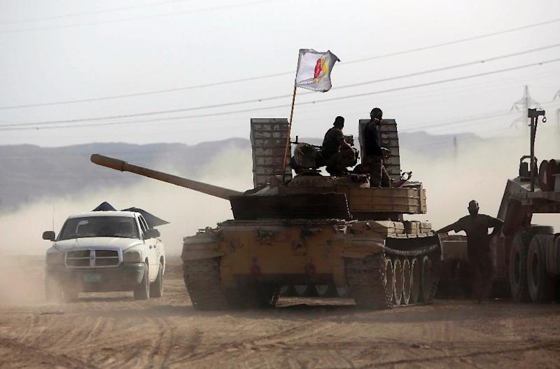 Iraq says pro-regime forces have gained significant ground in and around Baiji (AFP Photo/Mohammed Sawaf)