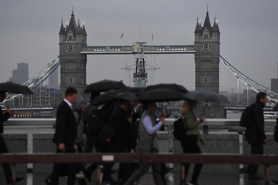 The Met Office has issued a yellow weather warning for Tuesday: PA