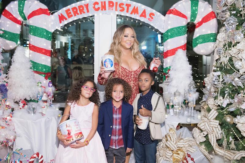 Mariah Carey likes to go big at Christmas. (Photo: Getty)