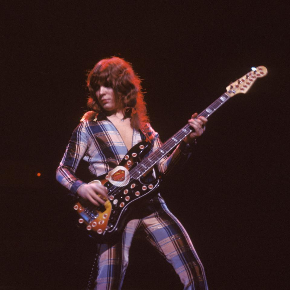 Steve Priest of the Sweet in the early '70s. (Photo: Fin Costello/Redferns)